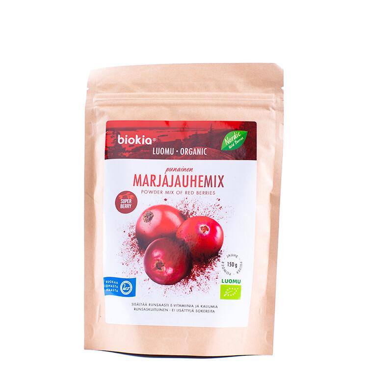 Biokia biologische wilde bessen poeder mix rood 150g