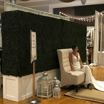Artificial Boxwood Hedge Backdrop Rental - Iowa