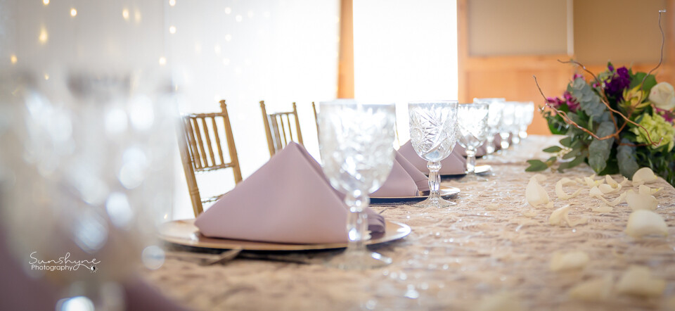 Ivory Sheer Floral Embroidery Sequin Table Overlays Rentals