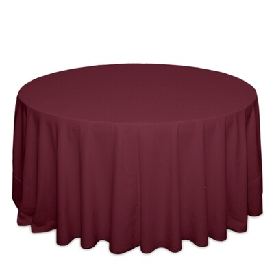 Burgundy Tablecloth Rentals - Polyester