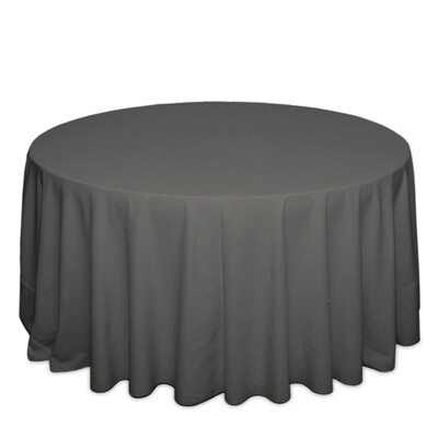 Charcoal Tablecloth Rentals - Polyester