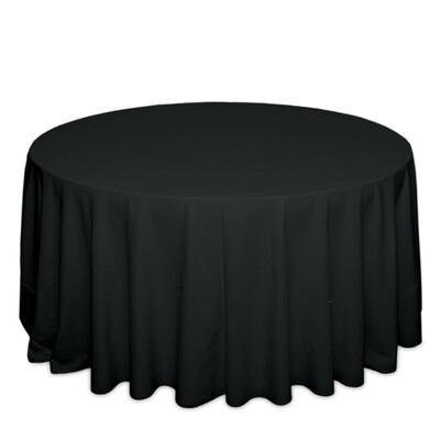 Black Tablecloth Rentals - Polyester