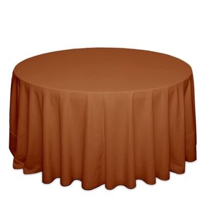 Burnt Orange Tablecloth Rentals - Polyester