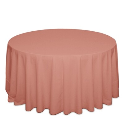 Dusty Rose Tablecloth Rentals - Polyester