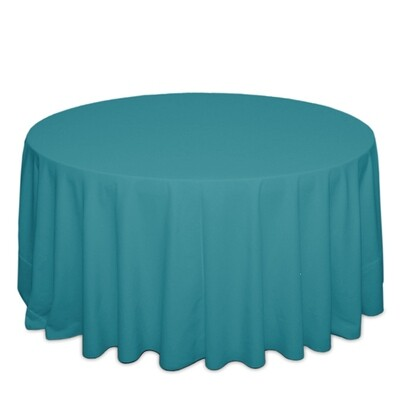 Turquoise Tablecloth Rentals - Polyester