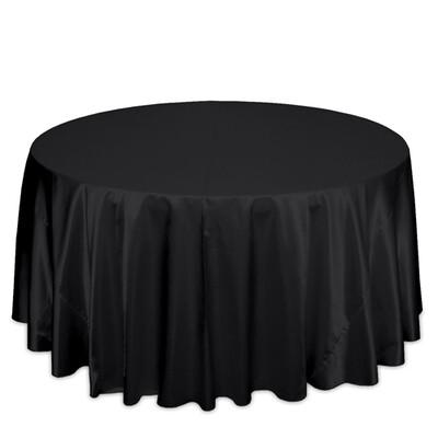 Black Satin Tablecloth Rentals