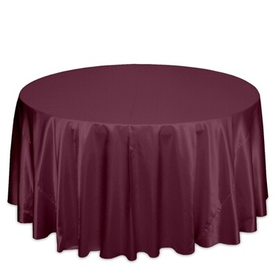 Burgundy Satin Tablecloth Rentals