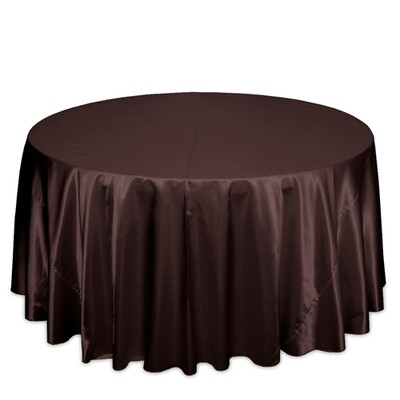 Brown Satin Tablecloth Rentals