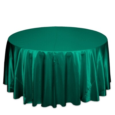Emerald Green Satin Tablecloth Rentals