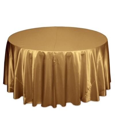 Gold Satin Tablecloth Rentals