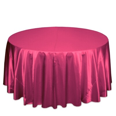 Hot Pink Satin Tablecloth Rentals