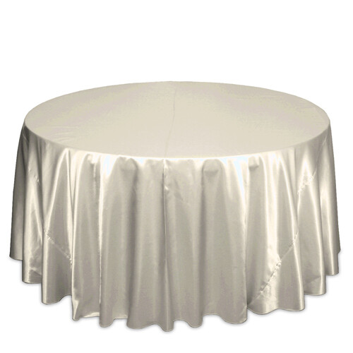 Ivory Satin Tablecloth Rentals