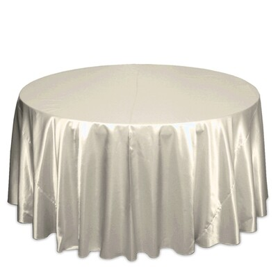 Ivory Satin Tablecloth Rentals