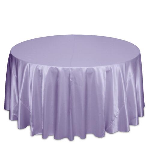Lilac Satin Tablecloth Rentals