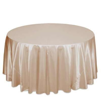 Peach Satin Tablecloth Rentals