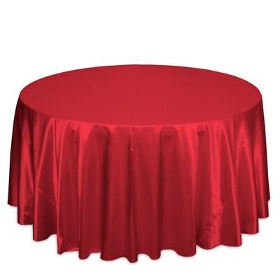 Red Satin Tablecloth Rentals