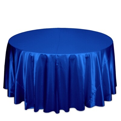 Royal Blue Satin Tablecloth Rentals