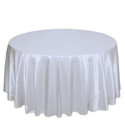 White Satin Tablecloth Rentals