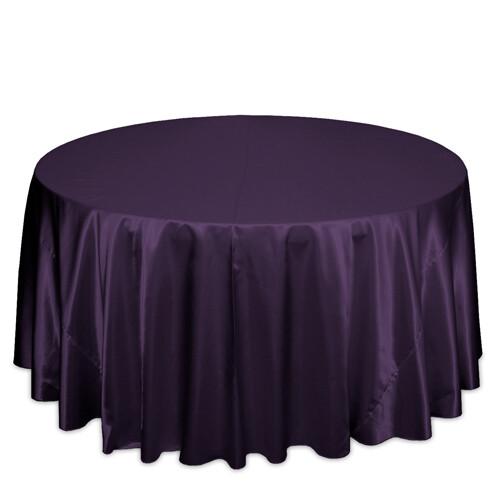 Plum Satin Tablecloth Rentals