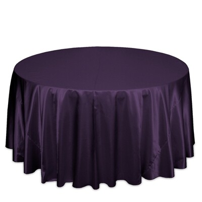 Plum Satin Tablecloth Rentals