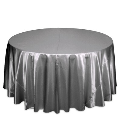 Silver Satin Tablecloth Rentals