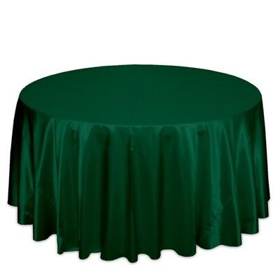 Hunter Green Satin Tablecloth Rentals