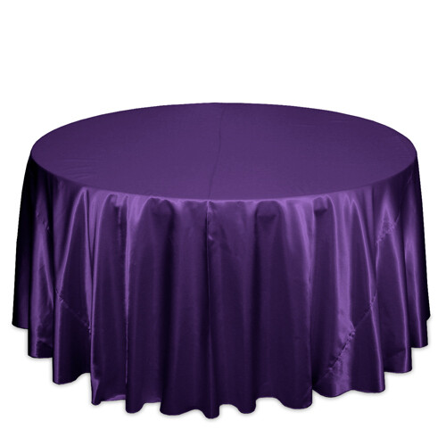 Purple Satin Tablecloth Rentals