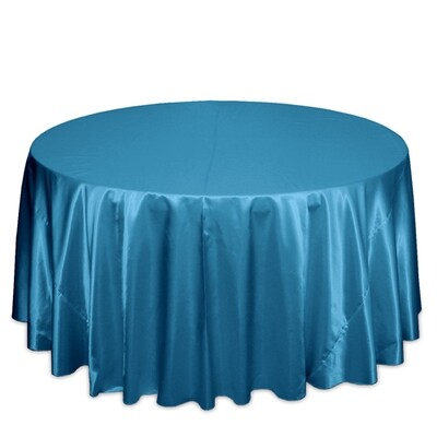 Teal Satin Tablecloth Rentals