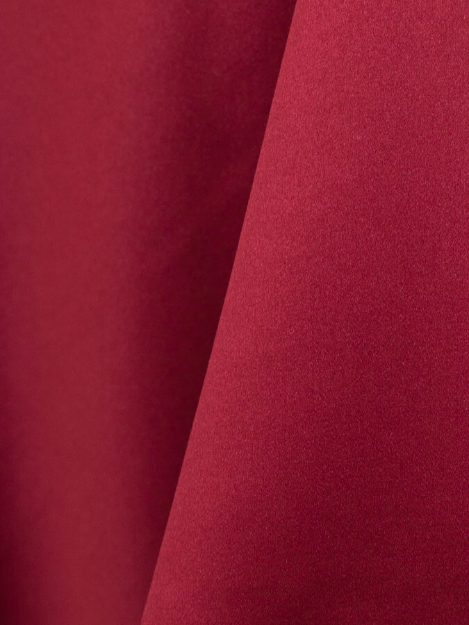 Ruby Lamour Matte Satin Table Cloth Rentals