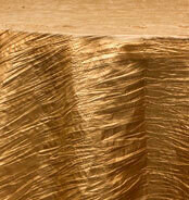 Gold Accordian Crinkle Taffeta Tablecloth Rentals