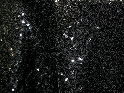 Black Sequin Taffeta Tablecloth Rentals
