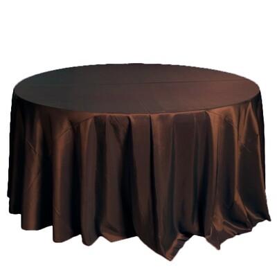Brown Taffeta Tablecloths Rentals