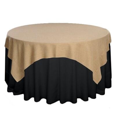 Faux Burlap Tablecloth Rentals