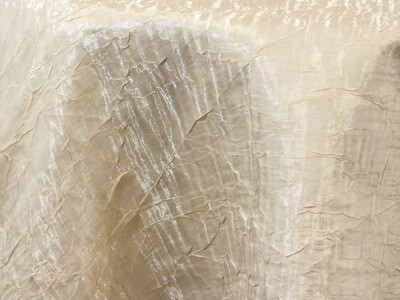 Ivory Iridescent Crush Tablecloth Rentals