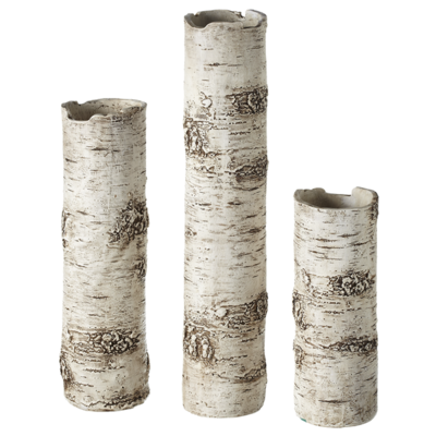 Birch Finish Branch Vases - Set of 3