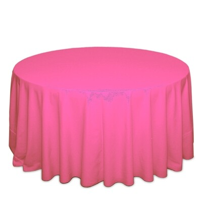 Neon Pink Tablecloth Rentals - Polyester