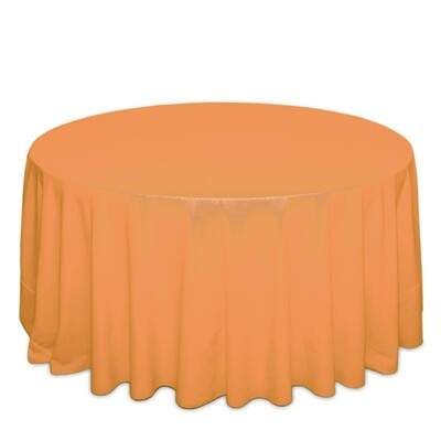 Neon Tangerine Tablecloth Rentals - Polyester