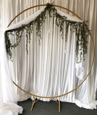 Circle Golden Wedding Arch Rental