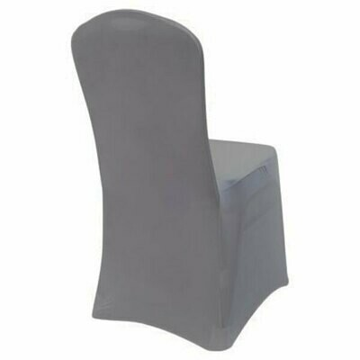 Silver Spandex Chair Cover Rentals