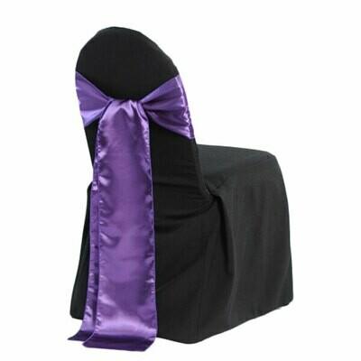 Black Banquet Chair Cover Rentals - B#3