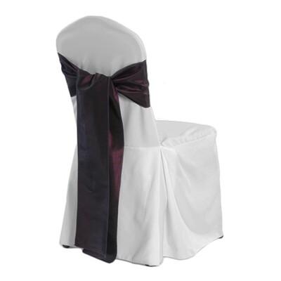 White Elite Banquet Chair Cover Rentals - 2/Pleat