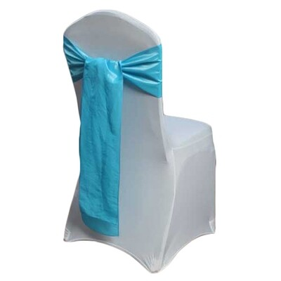 Aqua Chair Sashes Rental - Taffeta