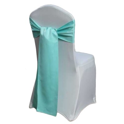 Aqua Chair Sash Rental - Matte Satin