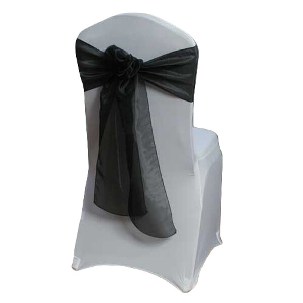 Black Chair Sash Rental - Mirror