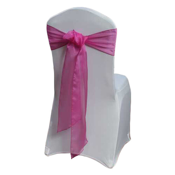Azalea Chair Sash Rental - Organza Sheer