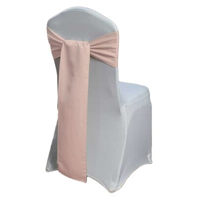 Blush Rose Gold Chair Sash Rental - Lamour Satin
