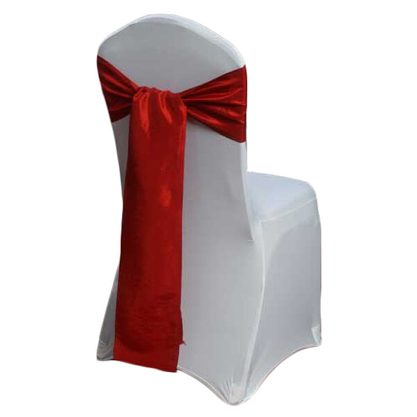 Apple Red Chair Sashes - Taffeta