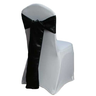Black Chair Sash Rental - Satin