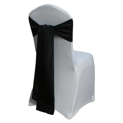 Black Chair Sash Rental - Taffeta
