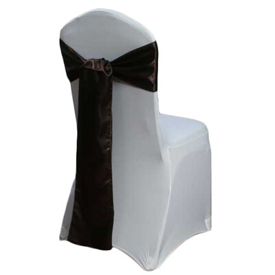 Brown Chair Sash Rental - Satin
